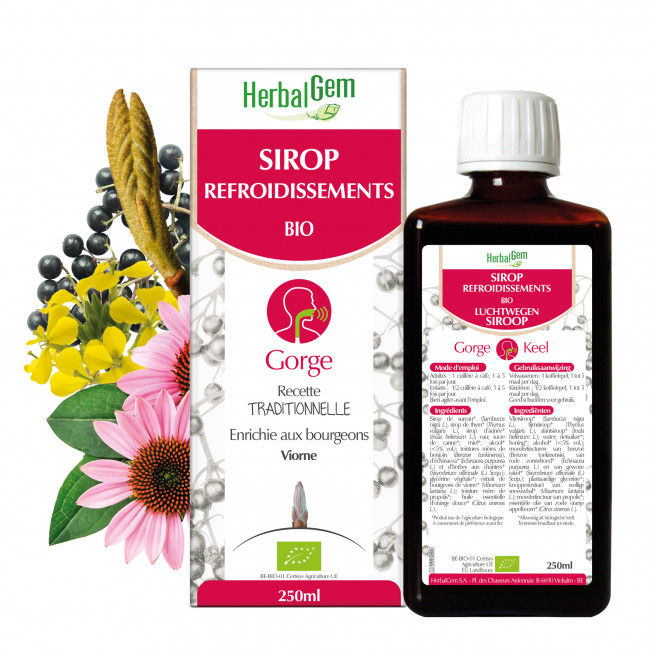 SIROP REFROIDISSEMENTS - 250 ml | Herbalgem